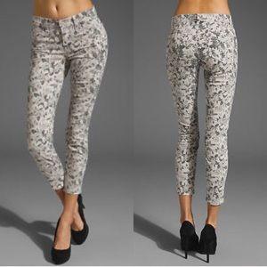 Anthropologie J Brand Floral Capri Pants Jeans